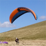 Paragliding training course with Mid Wales Paragliding Centre