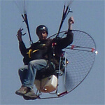 Paramotoring training course with Mid Wales Paragliding Centre.